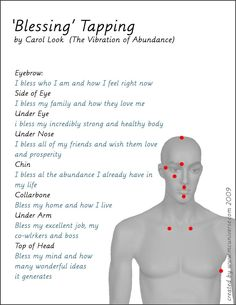 eft tapping points pdf  what are the meridians we use for