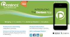 Denteez is the professional network for dentists, technicians, nurses, therapists and hygienists - www.denteez.com #Dentistry #DentalNetworking #DentalApp #Dental #DentalCases #DentalJobs #Denteez #InstantMessaging
