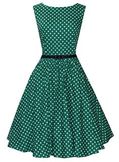 Anni Coco Women's Audrey Hepburn 1950s Vintage Polka Dot Dresses Green X-small Anni Coco http://www.amazon.com/dp/B00VUXHZJK/ref=cm_sw_r_pi_dp_fSlnvb0AAS9JN