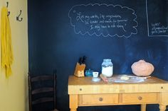 Chalkboard paint love (in SouleMama's kitchen)