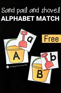 Sand Pail and Shovel Alphabet Match (free printable)
