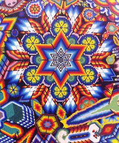 Estrella (Star) Huichol. A large piece with all this detail!