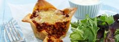 Cheesy lentil pies used vegan cheese and pastry