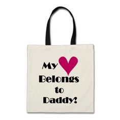 Heart Belongs to Daddy Tshirts and Gifts Tote Bag