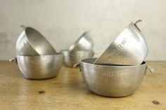French Vintage Canteen Bowls...set of SIX by LeMoulinBleu on Etsy..SOLD