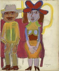 Jean Dubuffet, Le couple de la série : Le Métro, 1943
