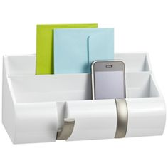 The Container Store > Piano White Wall-Mount Cubby Organizer by Umbra®