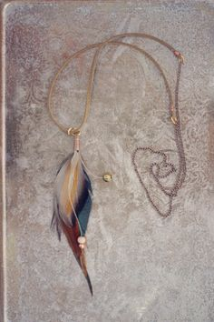 Feather Necklace real bird feathers wooden bead by kelseysfeathers