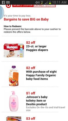 New Target Mobile Baby Coupons