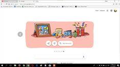 Feliz Año Nuevo 2018 el logo de google.