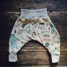 "Modern Baby Harem Pants, Baby lounge pants, baby MC hammer pants, baby comfy pants, ""call of the wild"" harem pants by HazelandHolly on Etsy https://www.etsy.com/listing/252193959/modern-baby-harem-pants-baby-lounge"