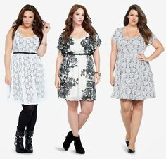 at Torrid // white printed dresses