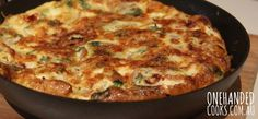 Tomato and Feta Frittata - One Handed Cooks