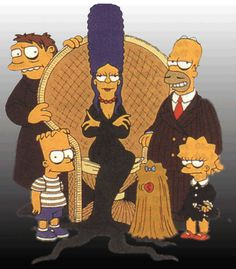 Simpsons as The Addams Family :)