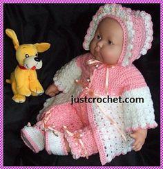 Ravelry: Baby crochet pattern JC17A pattern by Justcrochet Designs 3.90