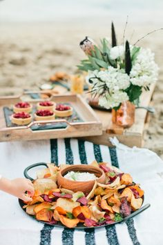 Autumn Root Vegetable Chips Caramelized Onion Aioli- Kid Friendly Food Spread by Colette's Catering & Events   California Beach Kiddo Party with Beijos Events & Pottery Barn Kids