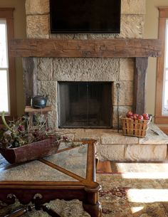 389 best rustic fireplaces images fire places home decor log rh pinterest com images of rustic fireplace mantels Rustic Brick Fireplace