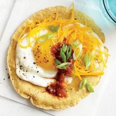 Smoky Egg and Cheese Tostada Recipe