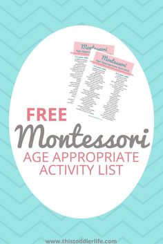 Montessori Basics | Age Appropriate Activity List |