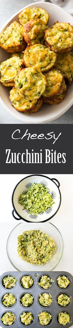 Cheesy baked zucchini tots, perfect for brunch, lunch, or an after school snack…