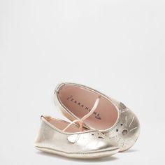 METALLIC LEATHER BABY BALLERINAS - Baby - Homewear & shoes | Zara Home Oman