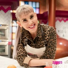 "Contestants on Season 2 of Zumbo's Just Desserts wear Cargo Crew ""Otto"" Aprons Gwyneth Paltrow, Bib Apron, Aprons, Zumbo's Just Desserts, Name Embroidery, Embroidery Services, Beauty Industry, Flight Attendant, Apron"