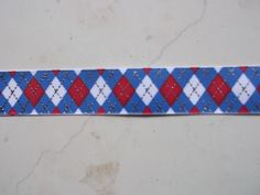Patriotic Red & blue argyle with silver glitz on by IsamayDesigns, via Etsy.