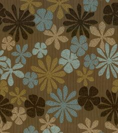 Upholstery Fabric-Better Homes & Gardens Manolo Mink, - floor pillow with blue walls Floral Upholstery Fabric, Pillow Fabric, Chair Upholstery, Chair Fabric, Scrapbooking, Scrapbook Paper Crafts, Dining Chair Makeover, Curtain Material, Curtain Fabric