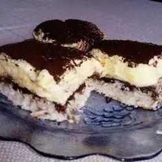 Kókuszos, vaníliás krémes sütemény   Edit56 receptje - Cookpad receptek Tiramisu, Ethnic Recipes, Food, Essen, Meals, Tiramisu Cake, Yemek, Eten