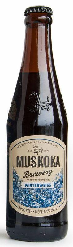 Review : Muskoka Winter Weiss Ale, Beer Brands, Beer Bottles, Beer Labels, Best Beer, Craft Beer, Brewery, Cool Designs, Packaging