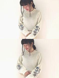 またカスタネでイヤリング買った 刺繍ニットかわいい おすすすめ〜〜