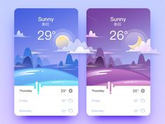 Weather App by goumy #Design Popular #Dribbble #shots:
