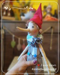 sewing fabric doll Pinocchio, Fabric Dolls, Elf On The Shelf, Sewing, Holiday Decor, Boys, Home Decor, Baby Boys, Dressmaking