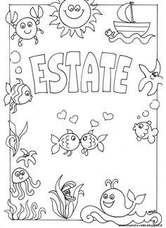 Scritta Estate Da Colorare Tuttodisegni Com Estate Pinterest