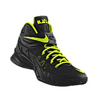I designed the black Nike Zoom LeBron Soldier VIII iD men's basketball shoe with volt trim to support the Iowa Hawkeyes.