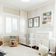 In case you missed it, our Editor-in-Chief had her first child, Judah James, just four months ago! Check out the blog to see a detailed look at the nursery that our Interiors Editor, @rachelmeadows, designed for him! It's quite a transformation from a messy guest room to this baby sanctuary… so if you're looking to design a nursery, we highly recommend working with the following brands that we used for this room: @babyletto for the dresser and crib, @thelandofnod for the rocker, rug, lamps…