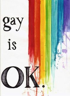 gay rights. Equality for all. #love #gayisok #lgbtq #lesbian #queer #trans #rainbow #itgetsbetter