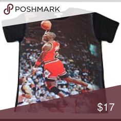 Michael Air Jordan Unisex Adult Graphic Tee Short Sleeve Unisex Adult Graphic Tee. Try this on for size. Be the first to sport this trendy fashion. This Unisex graphic tee shirt features: Soft, comfortable fit. Vivid color graphics. 100% Polyester. Pair this item with matching socks. Makes a great gift! King Graphic Wear Tops Tees - Short Sleeve