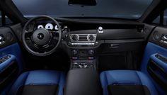 rolls royce wraith black badge blue interior seats door panels