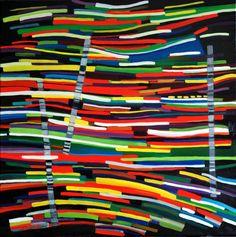 "Night Lights ~ 30"" x 30"" @Alison Jardine"