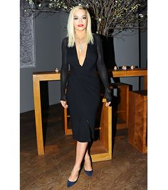 @Who What Wear - Rita Ora                  Where: Donna Karan's 30th Anniversary Celebration  We've said it before and we'll say it again: you can never go wrong with a sexy black dress.  Get the Look: Helmut Lang Halter Midi Dress ($360) in Black