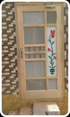 NET DOOR DESIGN: The net door is usually used to stop mosquito or fly, But now the time is changed and the people have to do it for the decoration house Single Door Design, Wooden Front Door Design, Door Gate Design, Room Door Design, Wood Front Doors, Door Design Interior, Railing Design, Wood Design, Window Glass Design