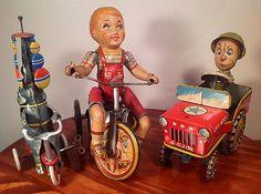 Antique tin toys