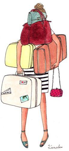 Les filles, vous êtes plutôt du genre voyage léger ou voyage encombrant ? Difficile de laisser à la maison une petite paire d'escarpins que l'on pourrait porter lors d'une soirée en bord de mer n'est ce pas? On vous pardonne ! #Voyage #fille #valises
