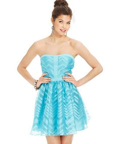 Hailey Logan by Adrianna Papell Juniors' Strapless A-Line Dress