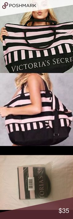 """VS getaway beach bag Brand new, in original packaging with labels. Size 17"""" Lx 7""""Wx13.4"""" H, extendable in the bottom Victoria's Secret Swim"""
