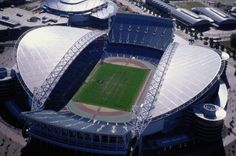 Stadium Australia in Sydney, 1999 Sydney's Olympic Stadium  http://architecture.about.com/od/greatbuildings/ig/Stadium-and-Arena-Pictures/sydneystadium-rivera.htm#step-heading