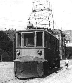 Tramway in Liberec, Czechoslovakia. 1926.
