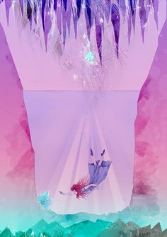 The Crystal Cavern by Katherine Tromans, via Behance