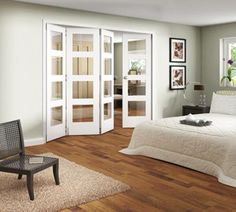 Incroyable JELD WEN Room Fold 4 Door Shaker Primed 4 Light Clear Glazed Interior Doors  2545. White Bifold DoorsInternal French ...